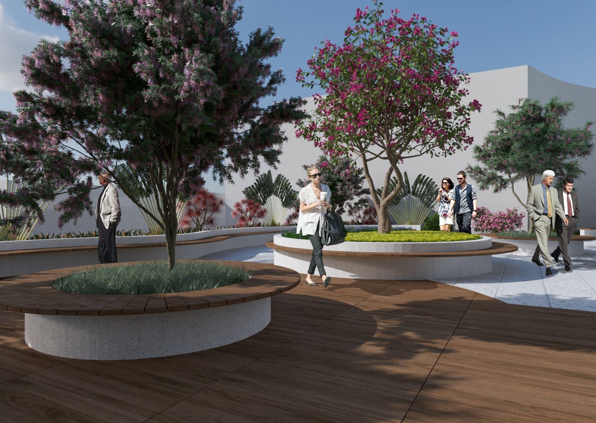 Vườn ngoài trời tại tầng 7