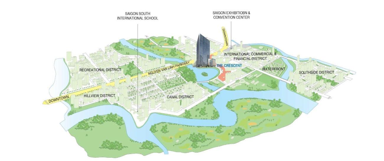 Vị trí Phú Mỹ Hưng Tower đắc địa đầy tiềm năng