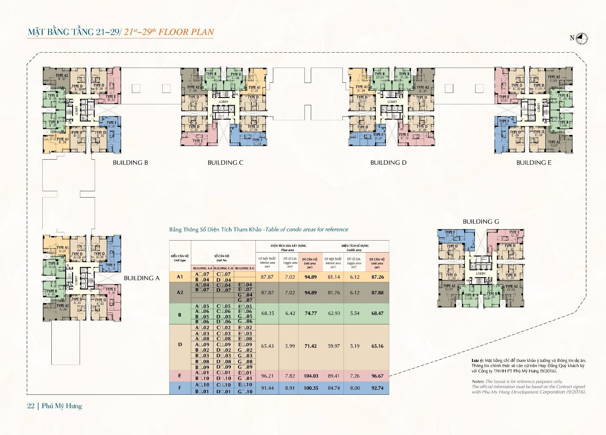 Mặt bằng tầng 21 - 29 Saigon South Residences
