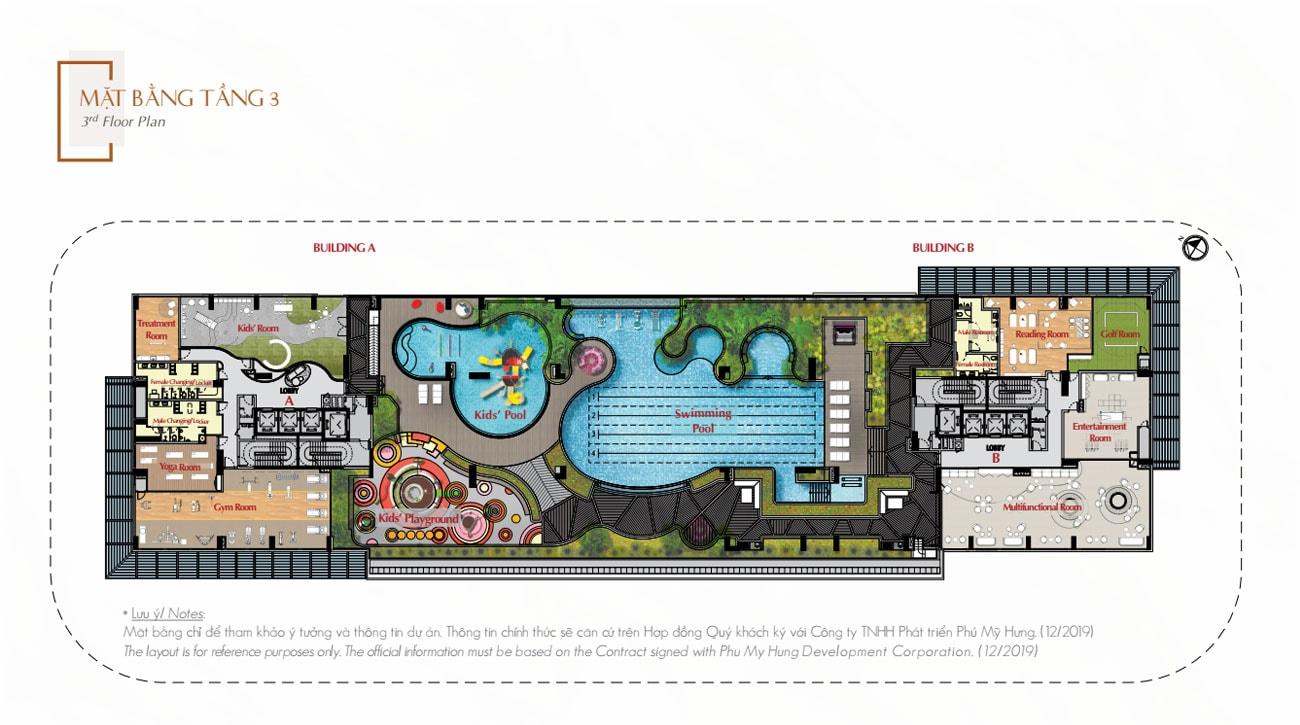 Mặt bằng tầng 3 dự án The Antonia Phú Mỹ Hưng Quận 7