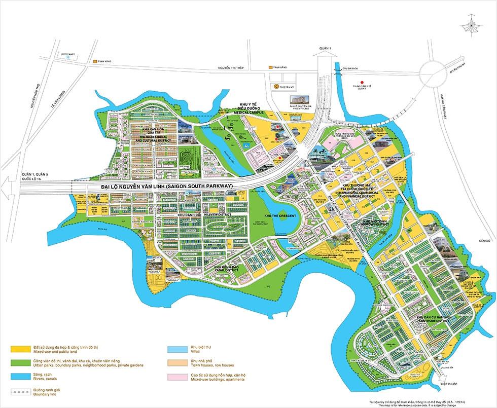 Bản đồ khu đô thị mới Phú Mỹ Hưng