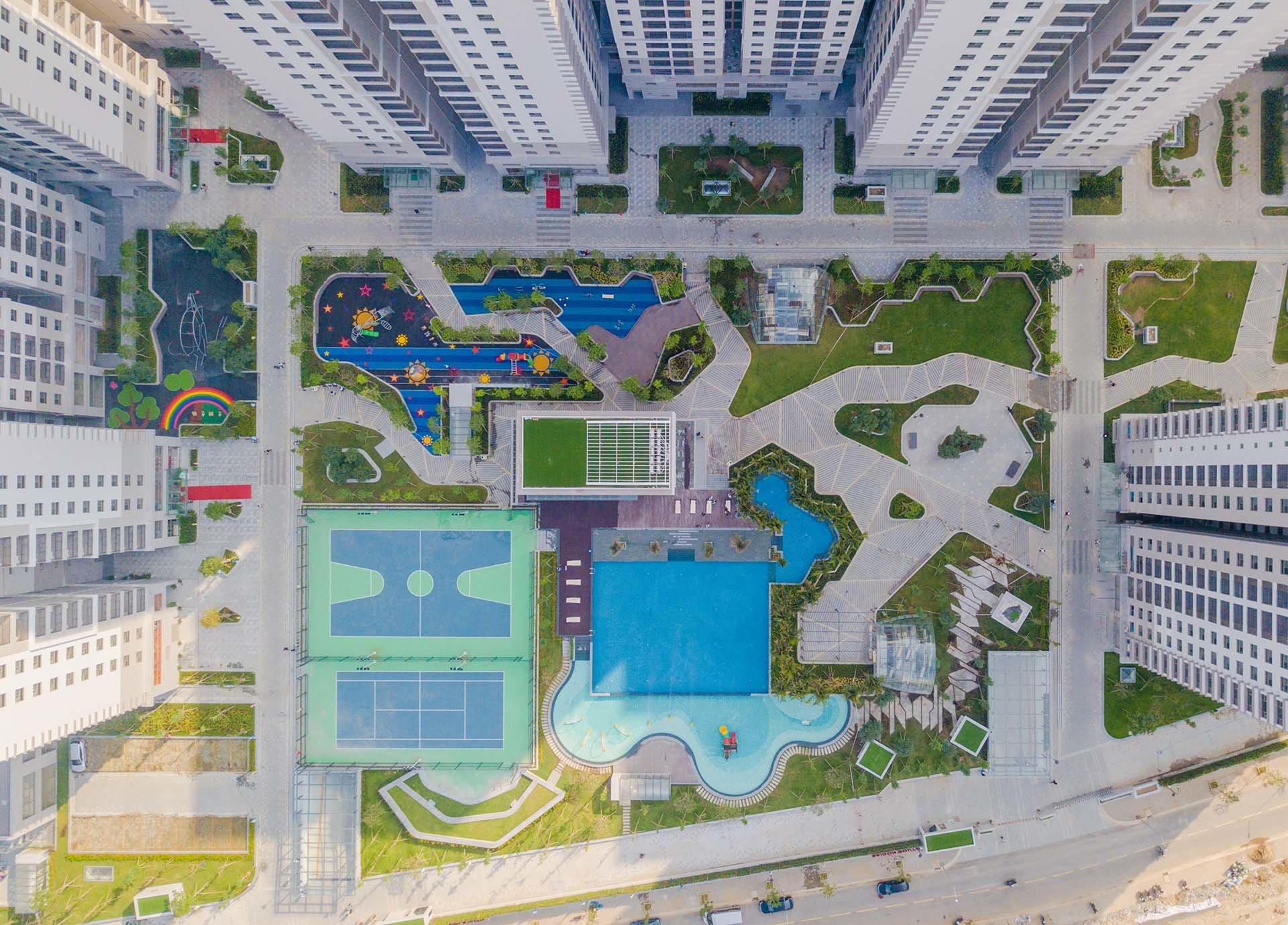 Tiện ích Saigon South Residences nhìn từ trên cao
