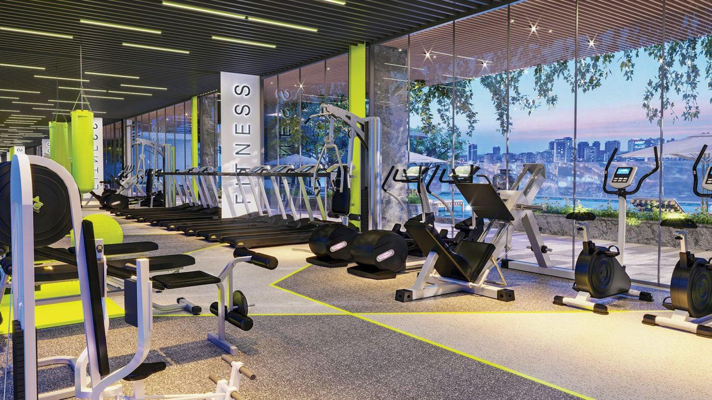 Phòng tập gym tại urban hill phú mỹ hưng