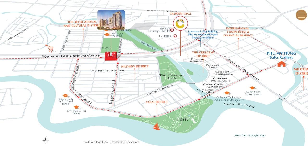 Vị trí Urban Hill trên mặt tiền Nguyễn Lương Bằng