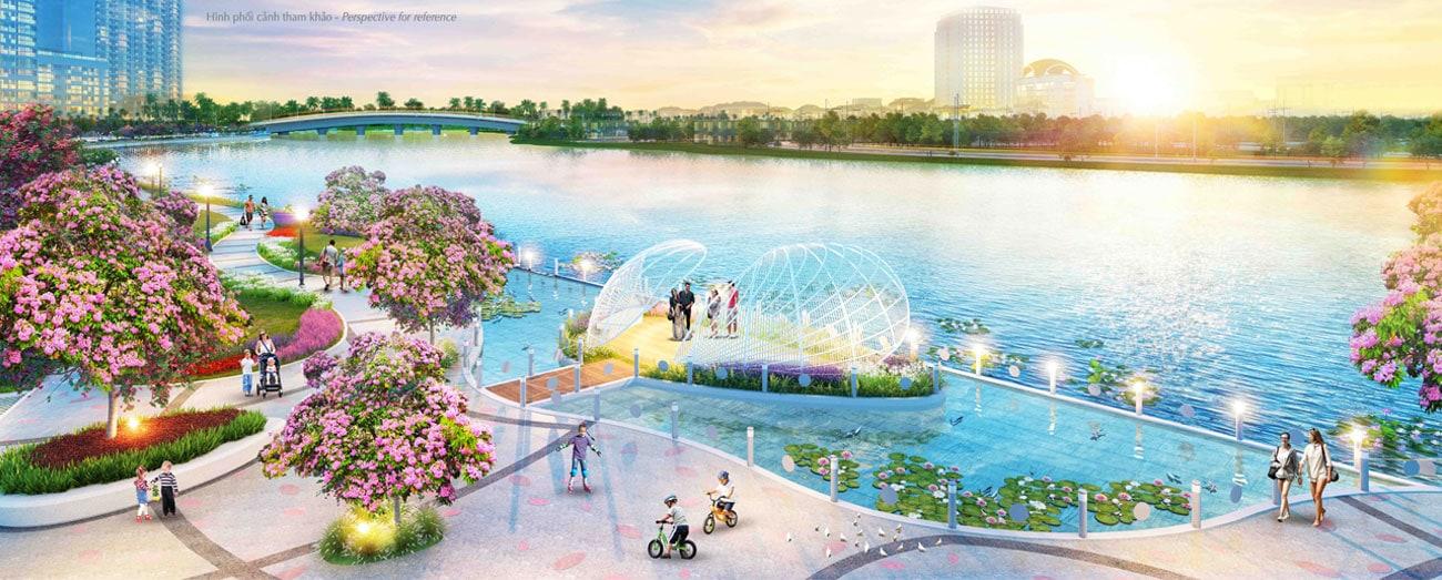 Công viên hoa anh đào Sakura Park - Phú Mỹ Hưng Midtown
