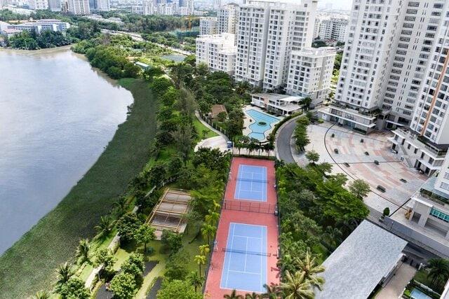 """Riverside Residence có không gian xanh mở """"cực đại"""" bởi hệ số sử dụng đất 2,85, mật độ xây dựng chỉ 22,87%"""