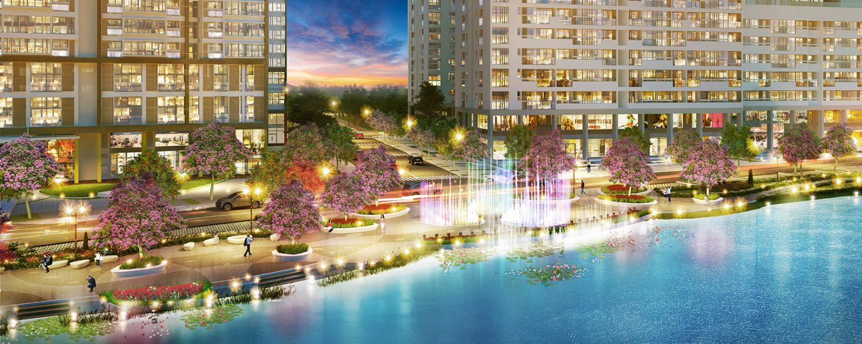 Công viên hoa anh đào Sakura Park Phú Mỹ Hưng Midtown Quận 7 về đêm