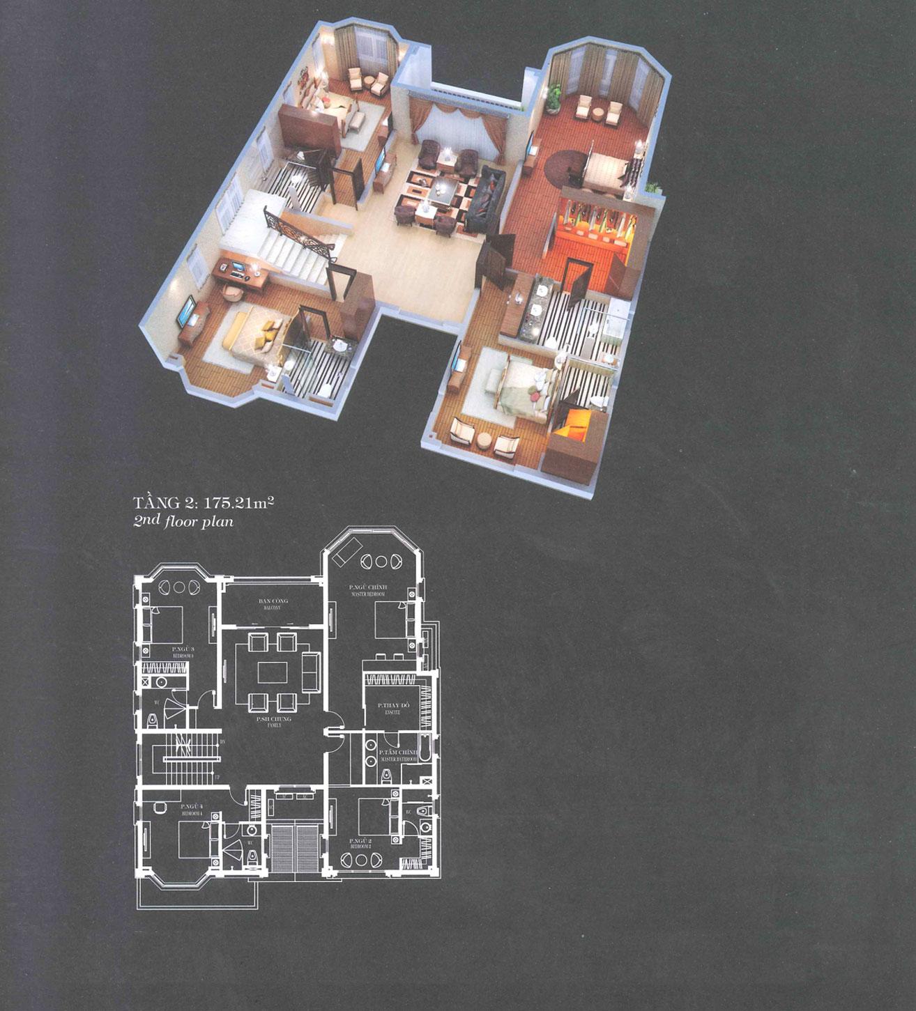 Villa A3 - Classical - Tầng 2