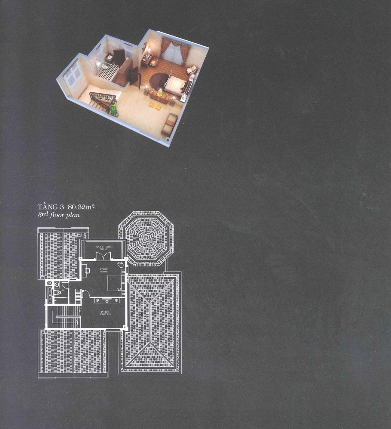 Villa A3 - Classical - Tầng 3