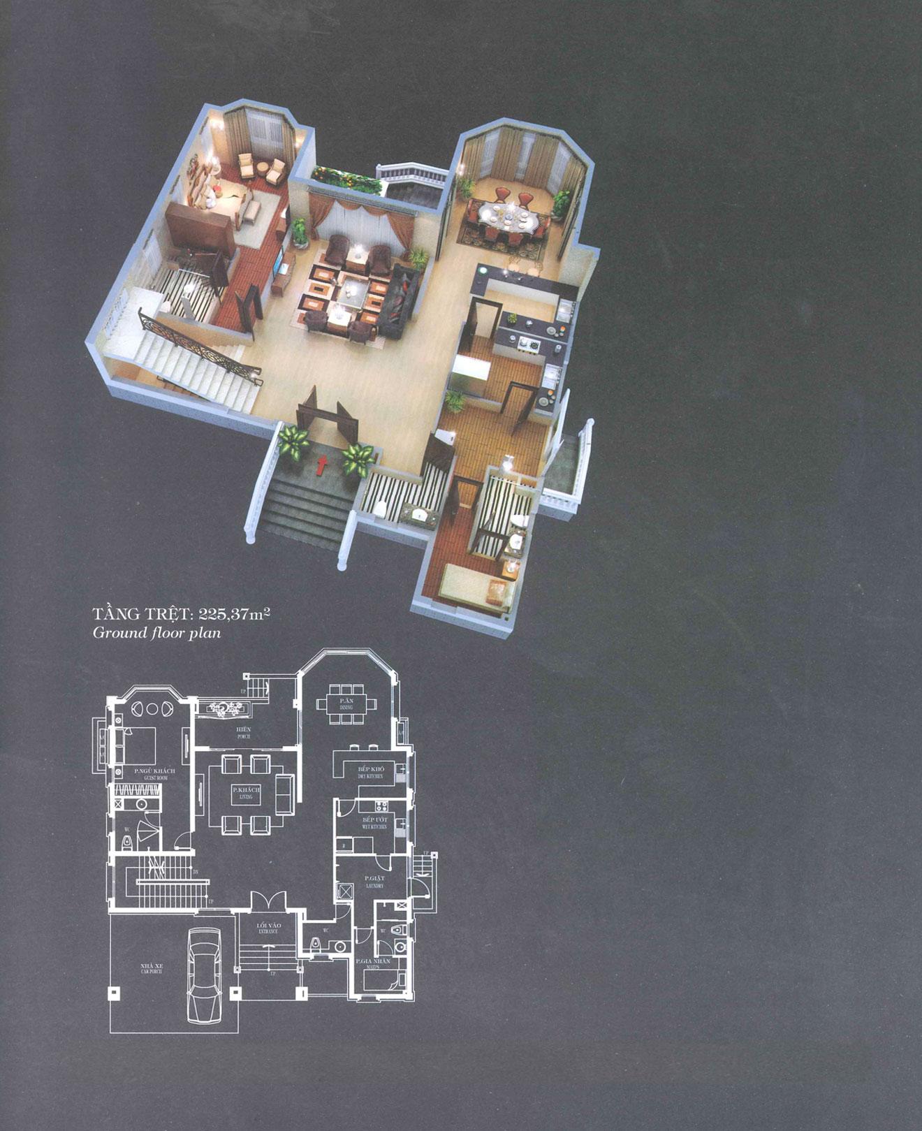 Villa A3 - Classical - Tầng trệt