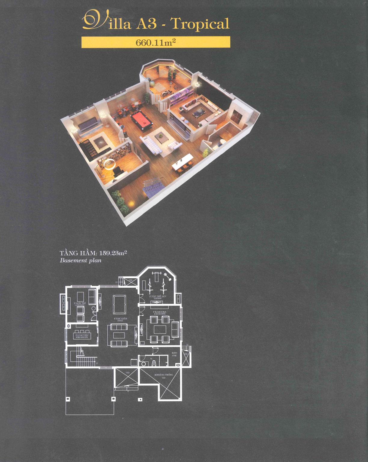 Villa A3 - Tropical -Tầng hầm
