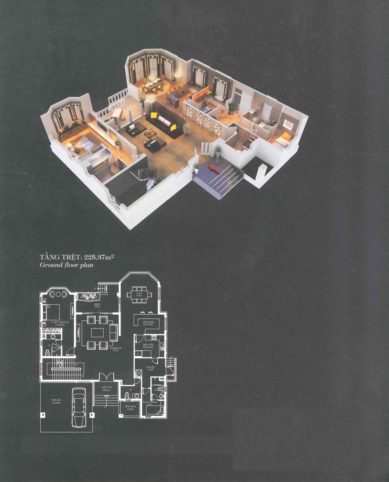Villa A3 - Tropical -Tầng trệt