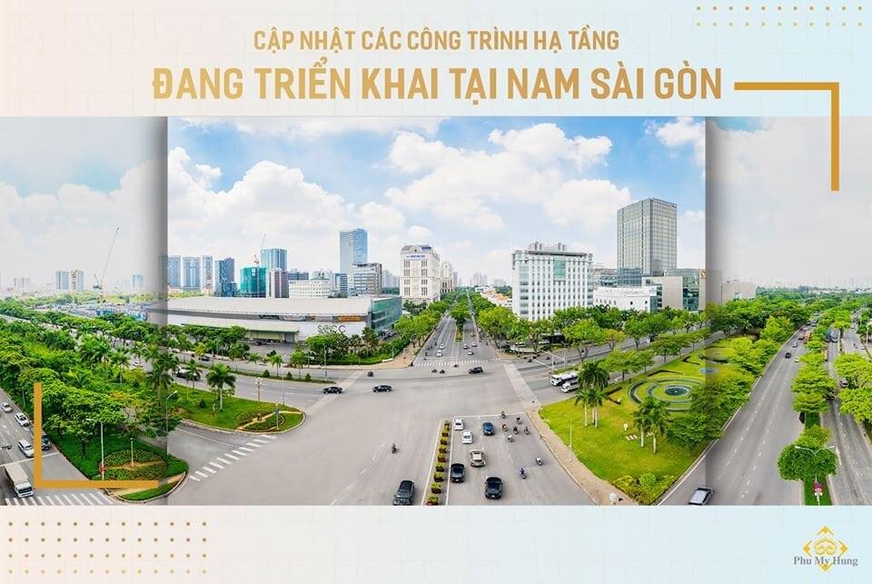Cập nhật công trình hạ tầng tại khu Nam Sài Gòn năm 2020