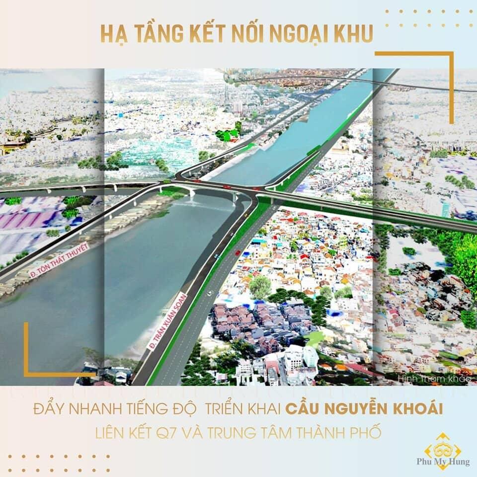 Đẩy nhanh tiến độ triển khai cầu Nguyễn Khoái liên kết Quận 7 và Trung tâm thành phố