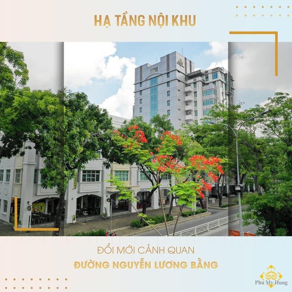 Đổi mới cảnh quan đường Nguyễn Lương Bằng - Quận 7