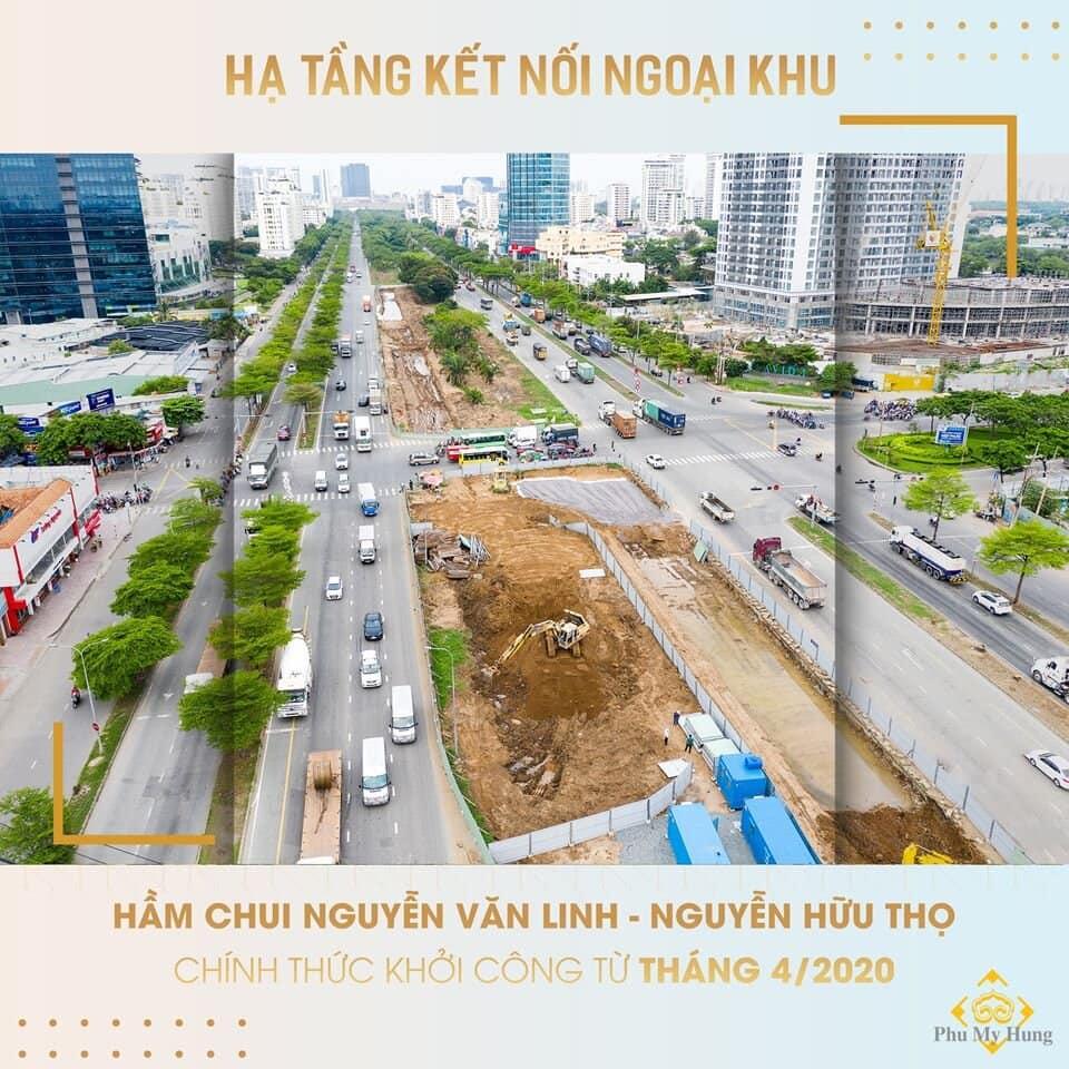 Hầm chui Nguyễn Văn Linh - Nguyễn Hữu Thọ chính thức khởi công từ tháng 4/2020
