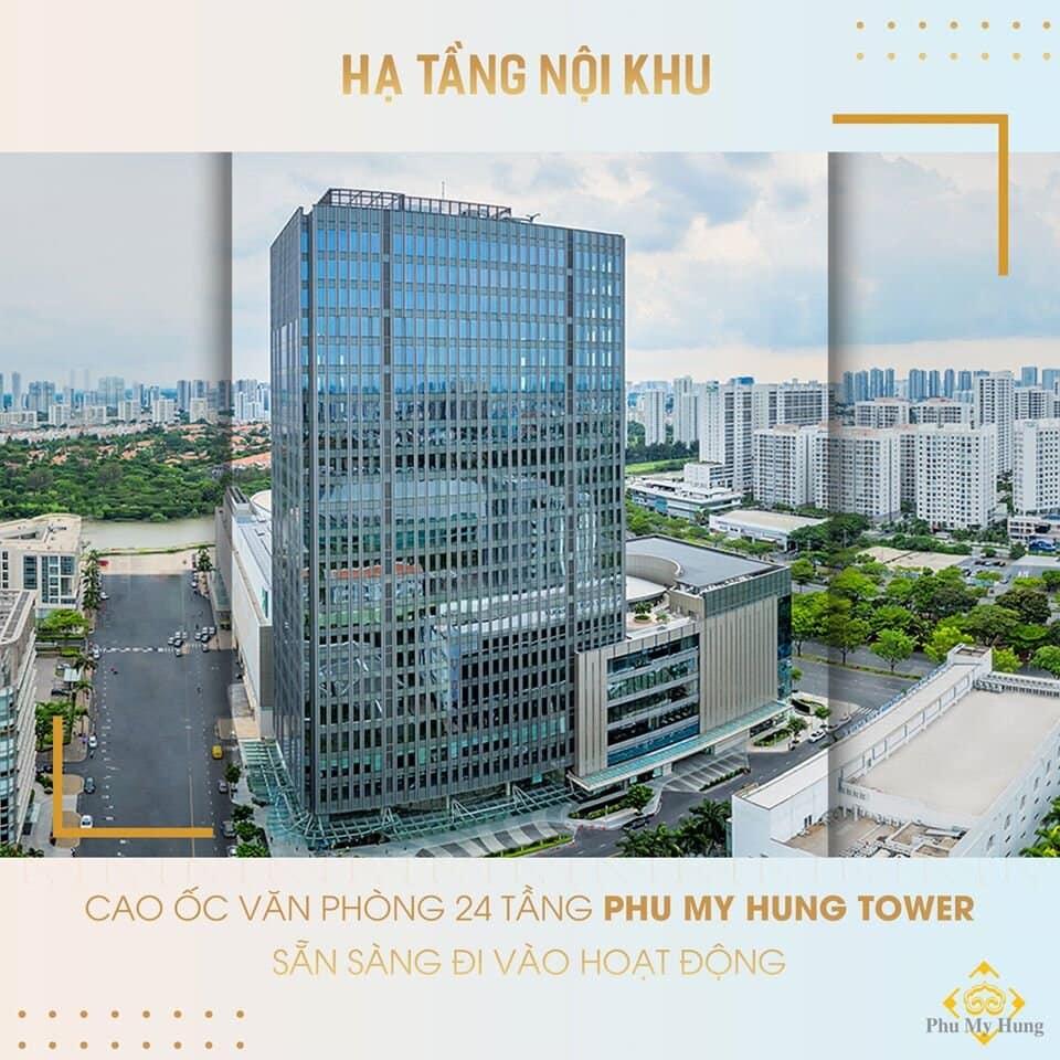 Cao ốc văn phòng 24 tầng Phu My Hung Tower sẵn sàng đi vào hoạt động