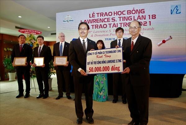 Cũng tại buổi lễ, Quỹ Lawrence S. Ting đã đón nhận tài trợ từ các công ty trong Tập đoàn CT_D và các doanh nghiệp, đơn vị hảo tâm với tổng số tiền hơn 9,9 tỷ đồng.