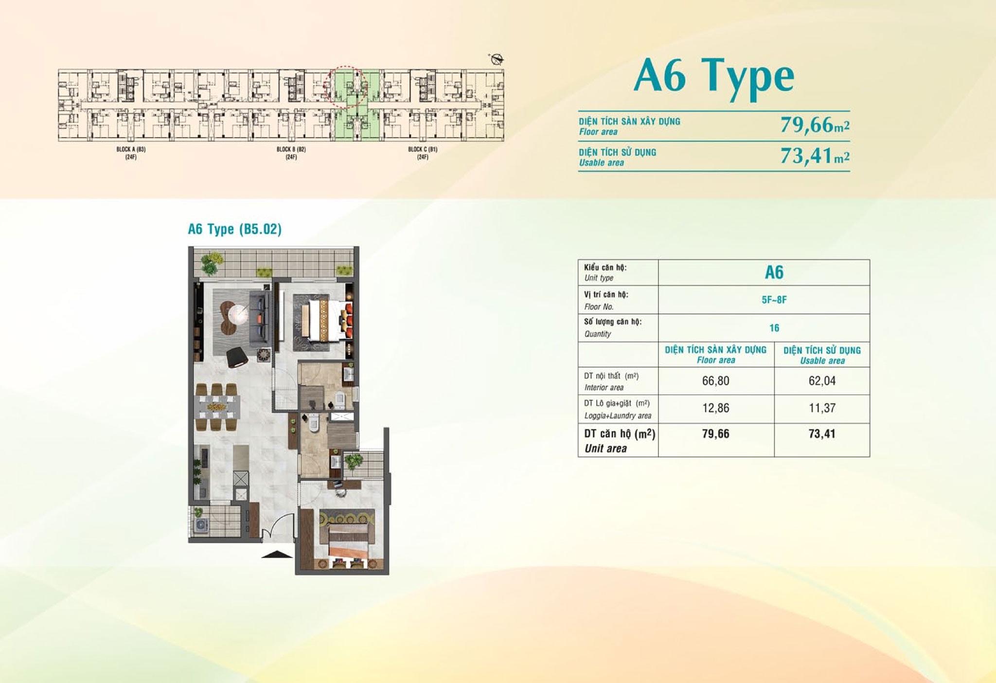 type a6