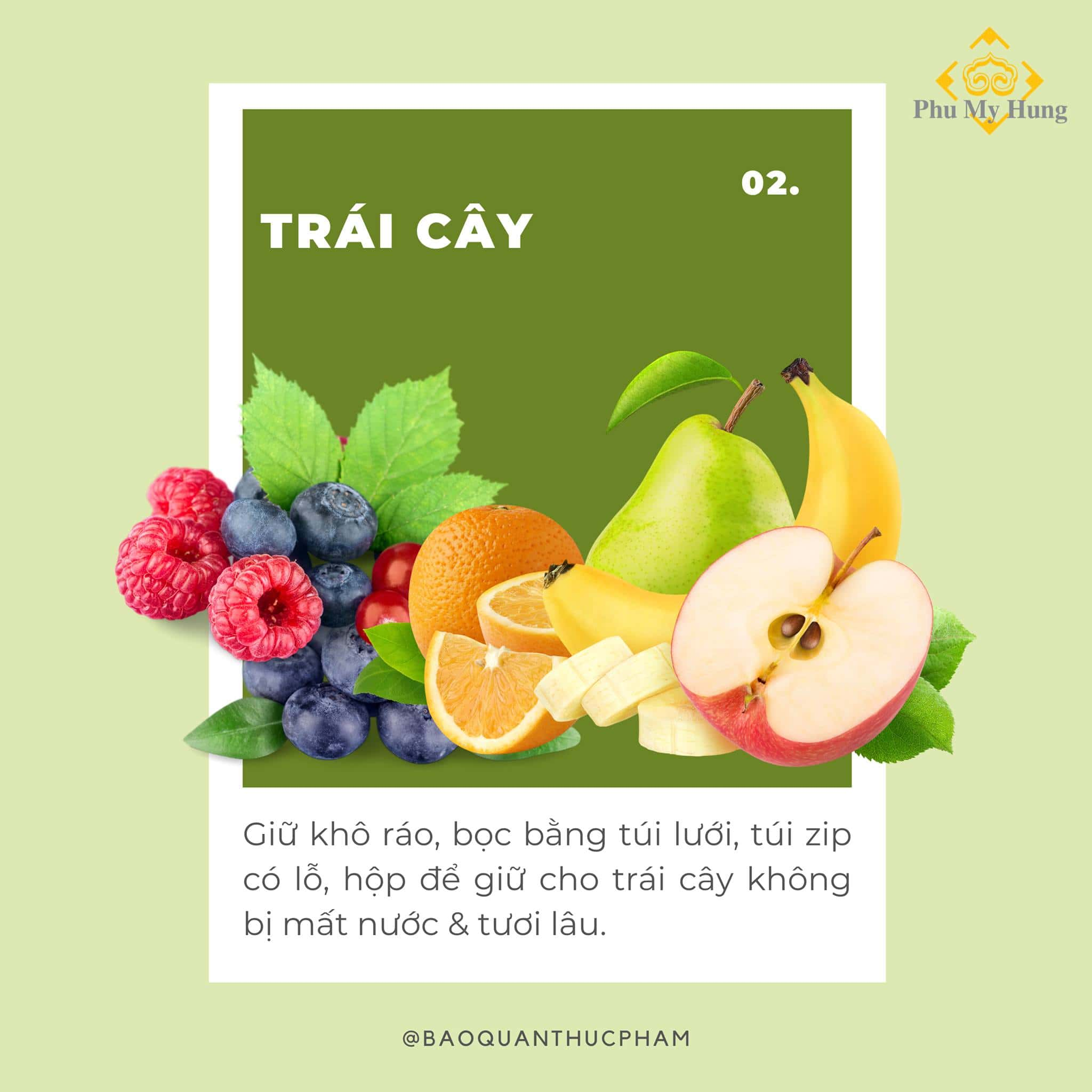 Mẹo hay bảo quản trái cây